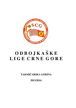 Knjiga OSCG 2013-2014 - Odbojkaški Savez Crne Gore