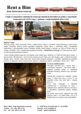 Rent a Bim Jízdy historickou tramvají