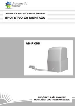 UPUTSTVO ZA MONTAŽU AH-PK06