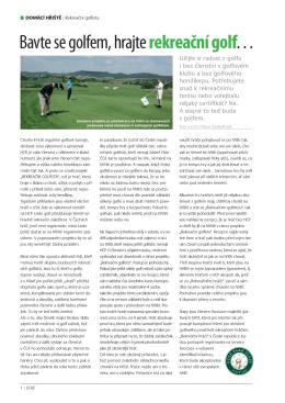 Bavte se golfem na Slapech