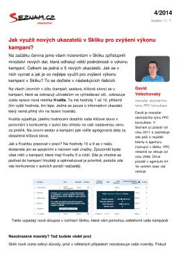 Uložit jako PDF - Newsletter Seznam.cz