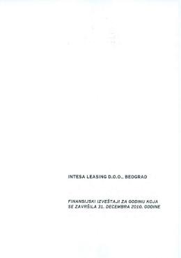 Finansijski izveštaj sa mišljenjem revizora za 2010