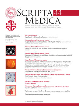 Časopis Društva doktora medicine Republike Srpske Journal of the