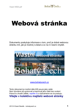 "E book ""Webová stránka"""
