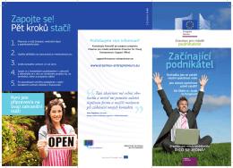 Začínající podnikatel - Erasmus for Young Entrepreneurs