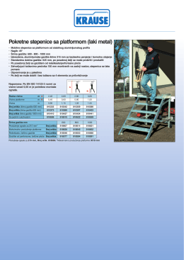 Pokretne stepenice sa platformom (laki metal)