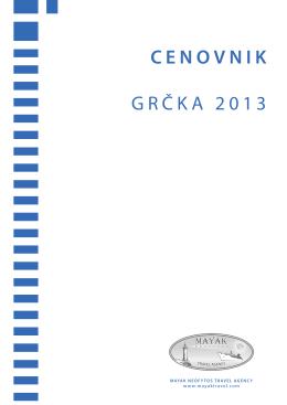 CENOVNIK GRČKA 2013