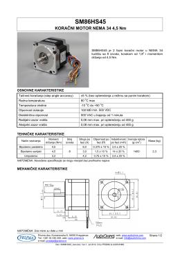 SM86HS45 NEMA 34 4,5 Nm