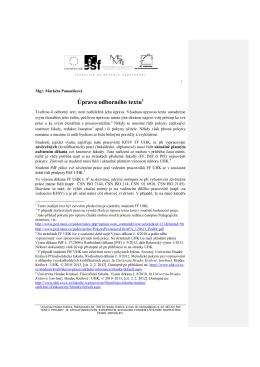 Panoušková - Úprava odborného textu