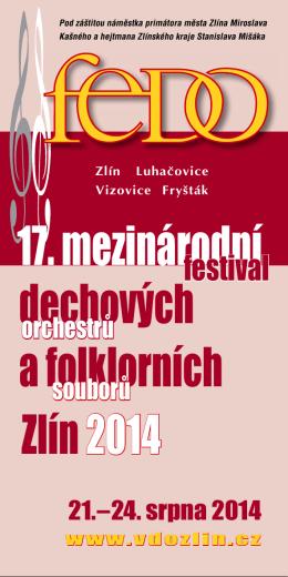 festivalová brožurka - Velký dechový orchestr Zlín