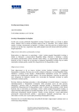 2013 - Čačanska banka