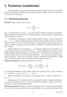 1. Fourierova transformace