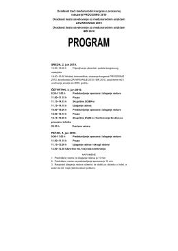 Detaljan program