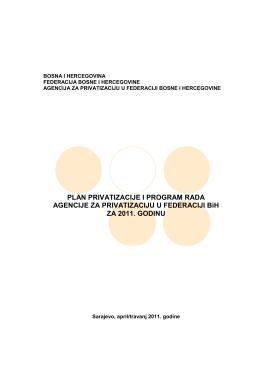 BOSNA I HERCEGOVINA - Agencija za privatizaciju FBiH
