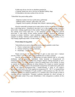 TP 1.2.005. Tehnološki projekat proizvodnje peleta od biomase