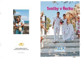 Svatby v Řecku - katalog CK Alex
