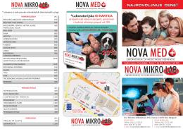 PDF - NOVA MED + laboratorija za medicinsku biohemiju