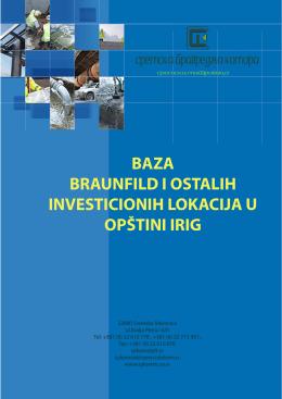baza braunfild i ostalih investicionih lokacija u opštini irig