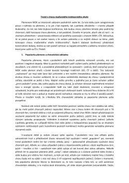 TREND V CHOVU MOK (pro Zpravodaj 09/10)