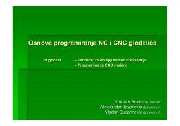 Osnove programiranja NC