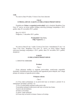 1168. Na osnovu člana 95 tačka 3 Ustava Crne Gore donosim UKAZ