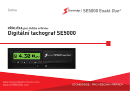 Řidič - SE5000 Digital Tachograph from Stoneridge Electronics