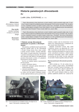 Historie panelových dřevostaveb - nizkoenergeticke-domy-na