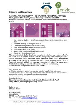 Kurz pasivni a nulove domy - TZB-info