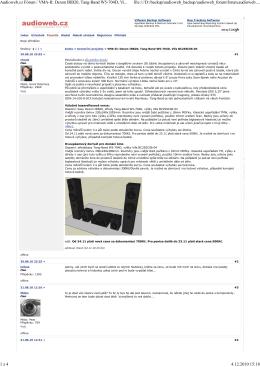 Audioweb.cz Fórum / VMA-II: Dexon IRB20, Tang-Band W5
