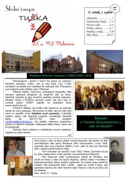 Tužka 1.09-10 - Základní škola TG Masaryka Milovice