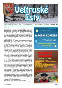VL 5.2012 - Veltrusy
