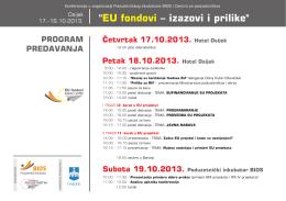 """"""" – izazovi i prilike"""" EU fondovi"""