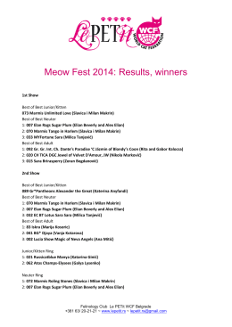 Meow Fest 2014: Results, winners