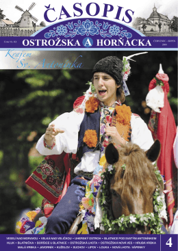 červenec, srpen - Mikroregion Ostrožsko