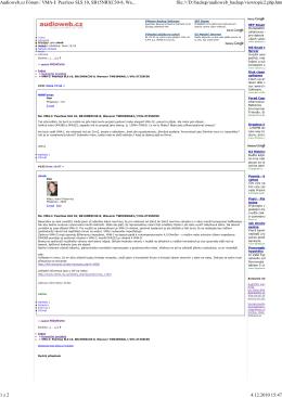 Audioweb.cz Fórum / VMA-I: Peerless SLS 10, SB15NRXC30