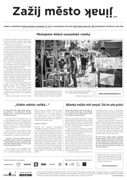 Noviny Zažij město jinak 2014