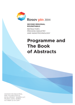 Programme and The Book of Abstracts