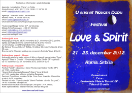 Flajer festivala Love&Spirit PREUZMITE