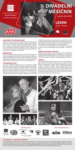 divadeLní měsíčník - Severočeské divadlo opery a baletu Ústí nad