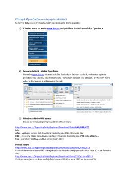 Popis obsahu OpenDat