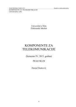 OSNOVI MIKROELEKTRONIKE - Katedra za mikroelektroniku