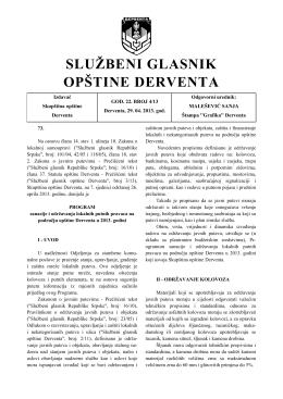 """""""Službeni glasnik opštine Derventa"""", broj: 4/13"""