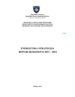Javna rasprava o Strategiji za energetiku Republike Kosova 2013