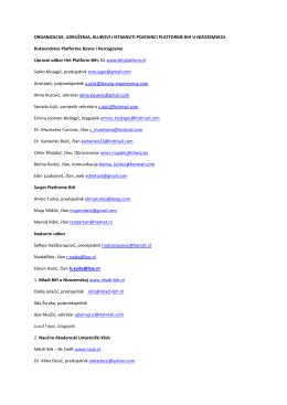 Organizacija - BiH Platform