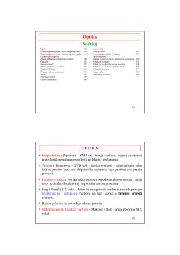Optika za studente Tehnološkog fakulteta (PDF)