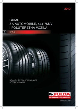 GUME ZA AUTOMOBILE, 4x4-/SUV I POLUTERETNA VOZILA