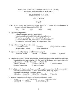 Тест питања из хемије група Д, 2014. година