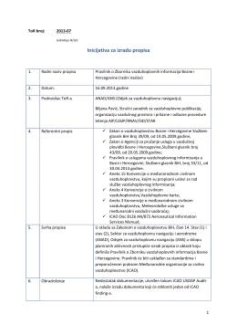 Pravilnik o zborniku zrakoplovnih informacija BiH