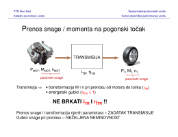 Prenos snage i vučno-brzinska karakteristika