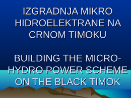 hydro power scheme on the black timok